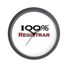 100 Percent Registrar Wall Clock