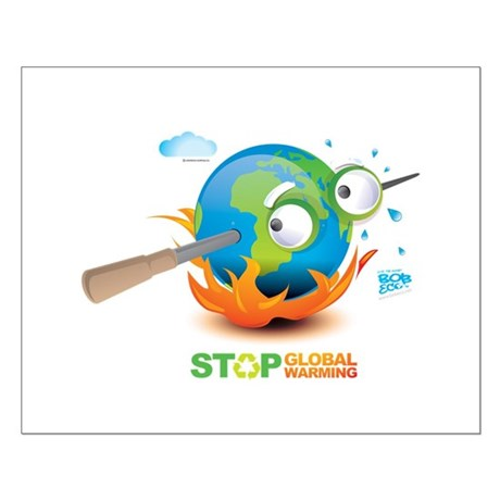 Earth Skewer Small Poster