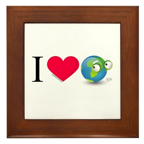 I Love Earth t-shirt Framed Tile