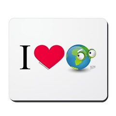 I Love Earth t-shirt Mousepad