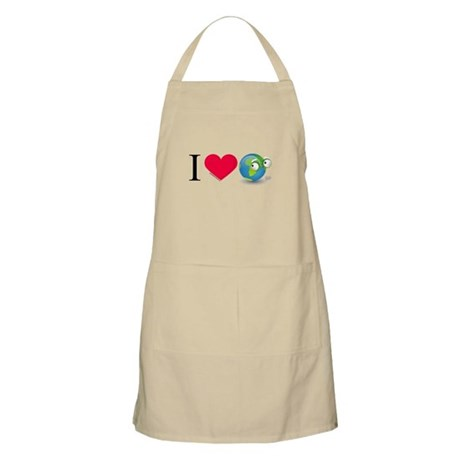 I Love Earth t-shirt BBQ Apron