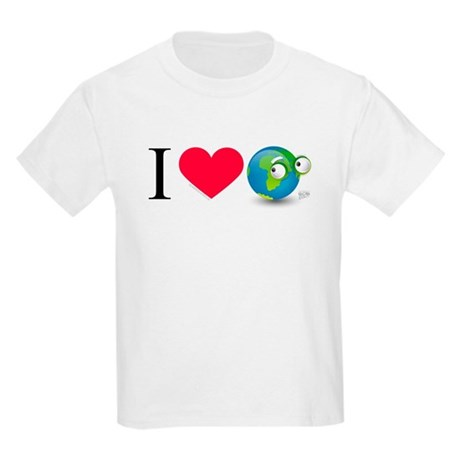 I Love Earth t-shirt Kids Light T-Shirt