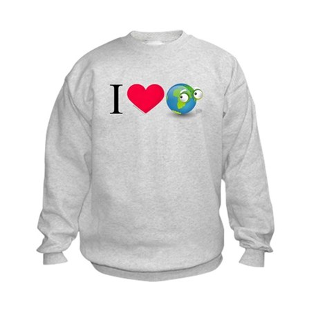 I Love Earth t-shirt Kids Sweatshirt