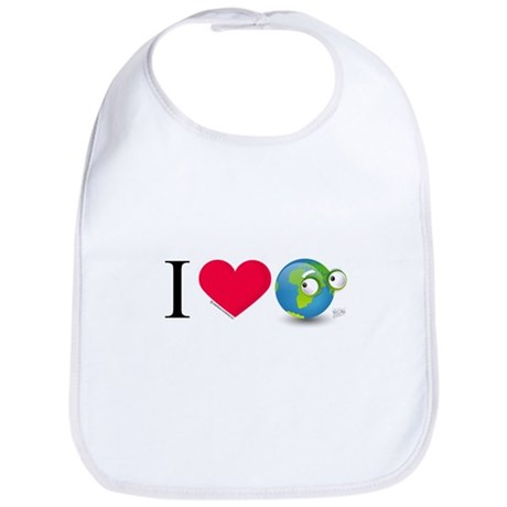 I Love Earth t-shirt Bib