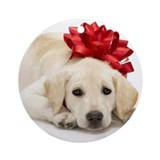Yellow Lab Puppy Ornament (Round)