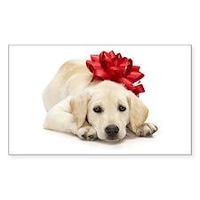 Yellow Lab Puppy Sticker (Rectangle)