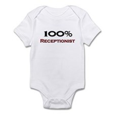 100 Percent Receptionist Infant Bodysuit
