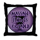Massage Client Kneaded Throw Pillow