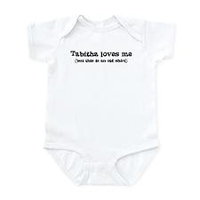 Tabitha loves me Infant Bodysuit