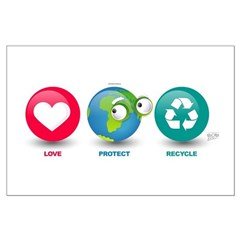 Love, Protect, Recycle Large Poster