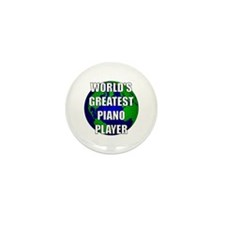 World's Greatest Piano Player Mini Button (100 pac