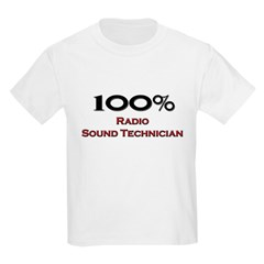 100 Percent Radio Sound Technician Kids Light T-Sh