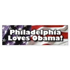 Philly Loves Obama Bumper Bumper Sticker