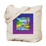 Babbling Brook Roomy Tote Bag for Books & Shop