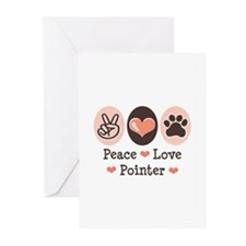 Peace Love Pointer Greeting Cards (Pk of 10)