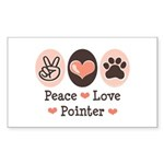 Peace Love Pointer Rectangle Sticker