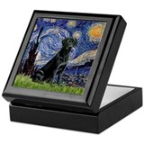 Starry Night Black Lab Keepsake Box