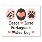 Peace Love Portuguese Water Dog Small Poster