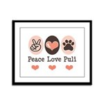 Peace Love Puli Framed Panel Print