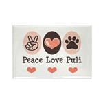 Peace Love Puli Rectangle Magnet (10 pack)