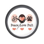 Peace Love Puli Wall Clock