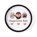Peace Love Puli Wall Clock