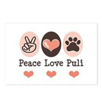 Peace Love Puli Postcards (Package of 8)