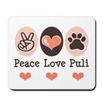 Peace Love Puli Mousepad
