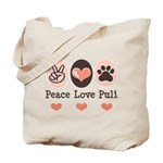 Peace Love Puli Tote Bag