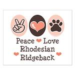 Peace Love Rhodesian Ridgeback Small Poster