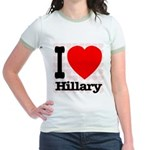I Love Hillary Jr. Ringer T-Shirt