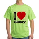 I Love Hillary Green T-Shirt