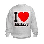 I Love Hillary Kids Sweatshirt