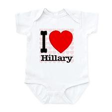 I Love Hillary Infant Bodysuit