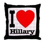 I Love Hillary Throw Pillow