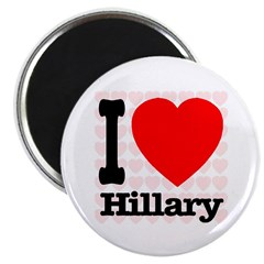 """I Love Hillary 2.25"""" Magnet (100 pack)"""