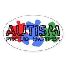 Autism - Proud Mother Oval Decal