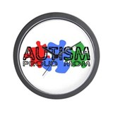 Autism - Proud Mom Wall Clock
