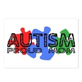 Autism - Proud Mom Postcards (Package of 8)