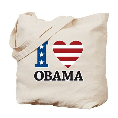 I Love Obama Tote Bag