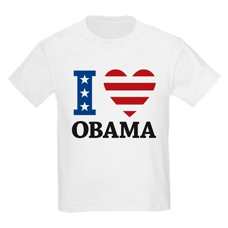 I Love Obama Kids Light T-Shirt