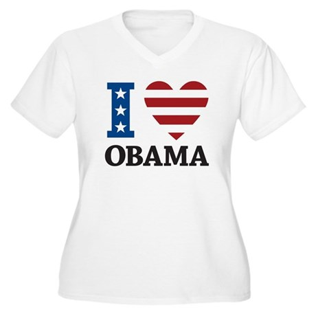 I Love Obama Women's Plus Size V-Neck T-Shirt