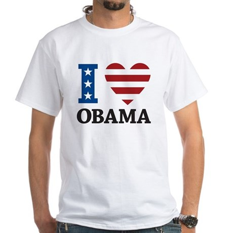 I Love Obama White T-Shirt