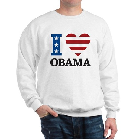 I Love Obama Sweatshirt
