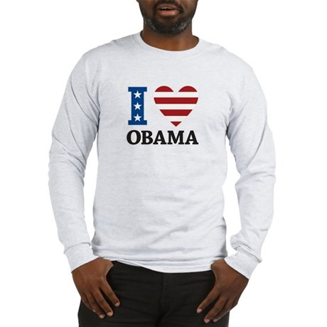 I Love Obama Long Sleeve T-Shirt