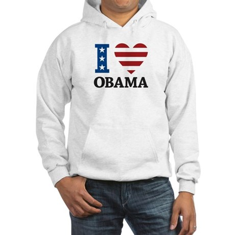 I Love Obama Hooded Sweatshirt