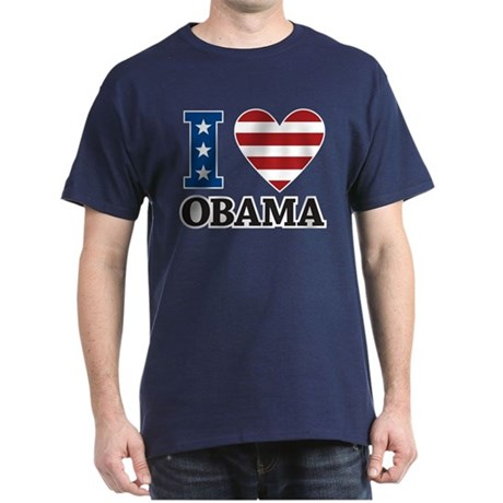 I Love Obama Dark T-Shirt