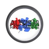 Autism - Proud Grandpa Wall Clock