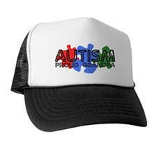 Autism - Proud Grandpa Trucker Hat