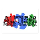Autism - Proud Grandpa Postcards (Package of 8)